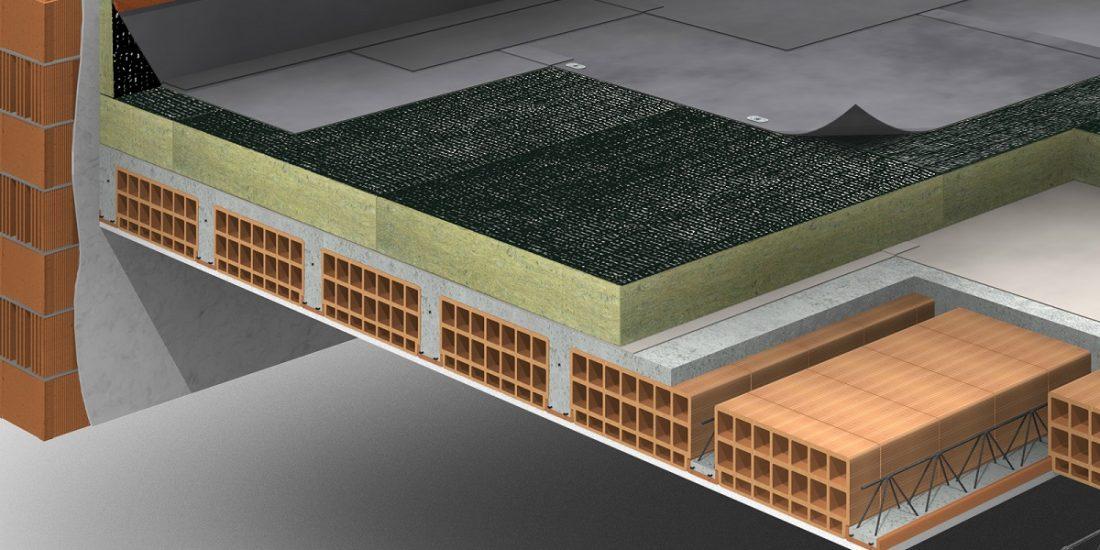 Barreira Acústica aplicada no isolamento de paredes e pisos